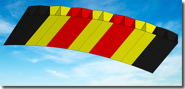 3-color parachute